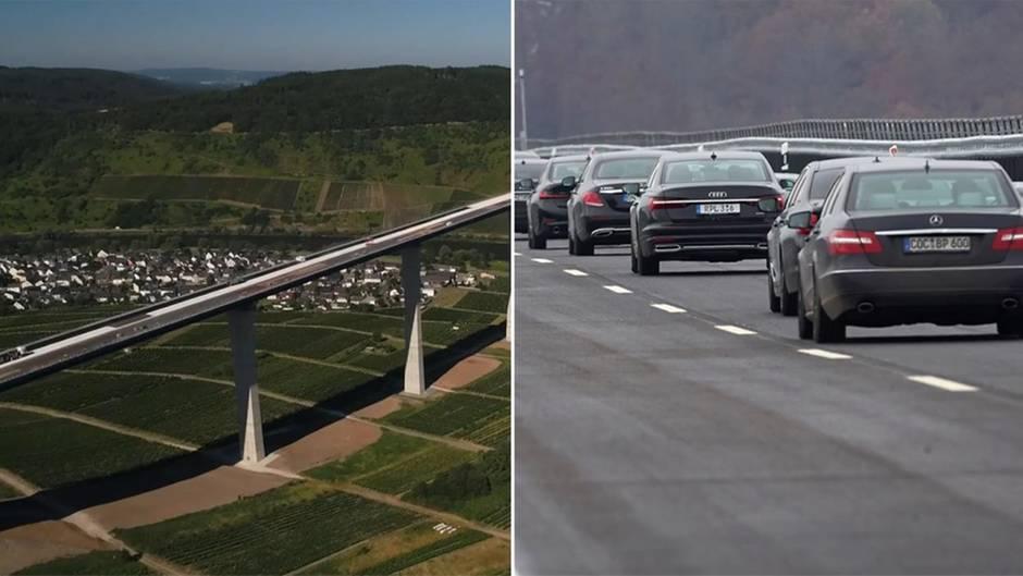 Umstrittenes Projekt: Hochmoselbrücke eröffnet: Hier fahren die ersten Autos über das 483-Millionen-Euro Projekt