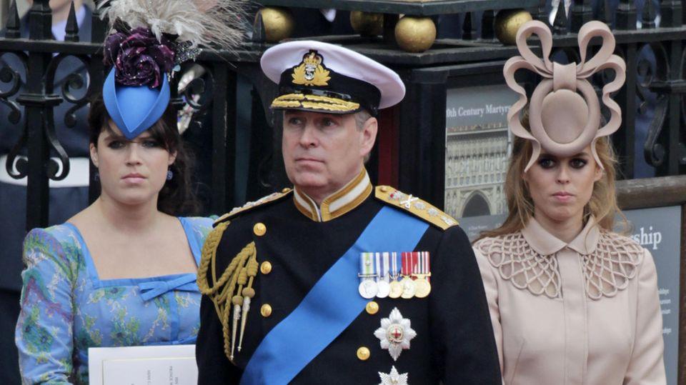Prinzessin Eugenie, Prinz Andrew und Prinzessin Beatrice
