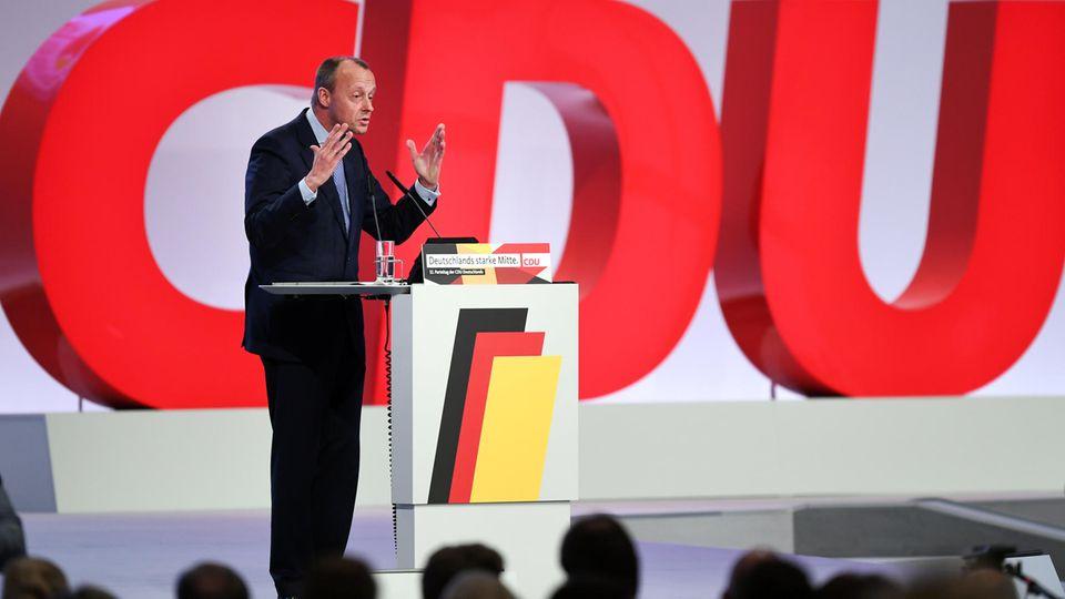 Friedrich Merz beim CDU-Bundesparteitag
