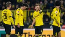 Viele Fragezeichen in den Gesichtern der BVB-Stars am Freitagabend