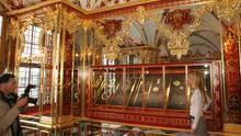 Blick in das Juwelenzimmer im Grünen Gewölbe