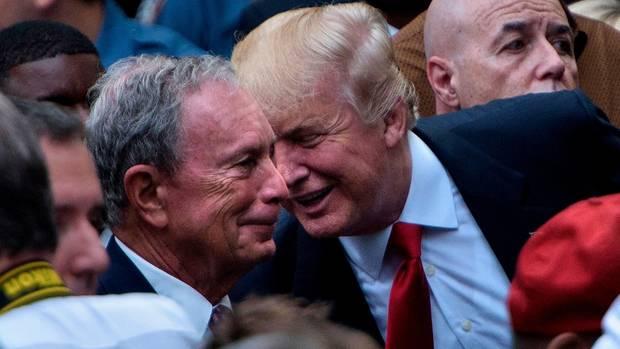 Michael Bloomberg und Donald Trump