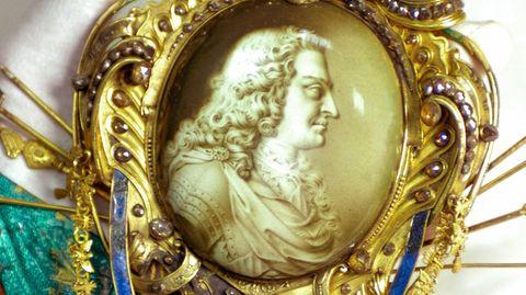 August der Starke auf einer Miniatur von 1722 aus dem Grünen Gewölbe
