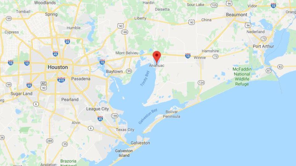Screenshot der Karte von Texas