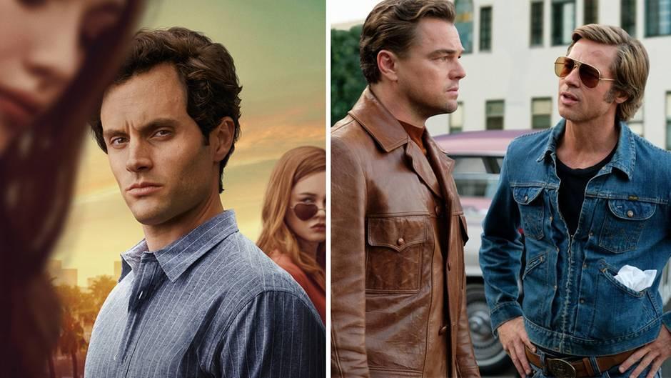 """Die Stalker-Serie """"You"""" und der Tarantino-Film """"Once Upon a Time in Hollywood"""" zählen im Dezember zu den Highlights bei Netflix und Amazon Prime Video"""