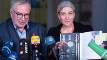 Dirk Syndram und Monika Ackermann, Grünes Gewölbe Dresden, stellen sich der Presse