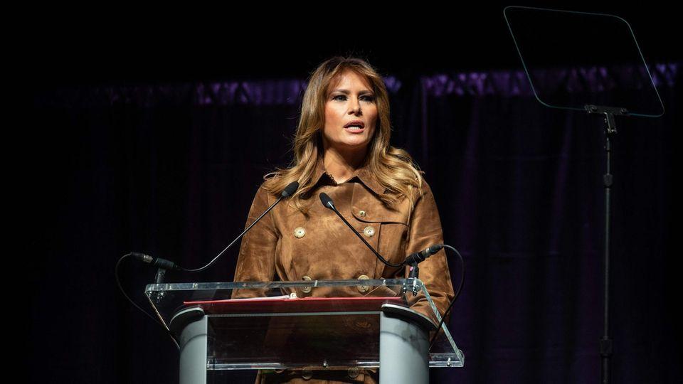 Melania Trump bei einer Rede in Baltimore