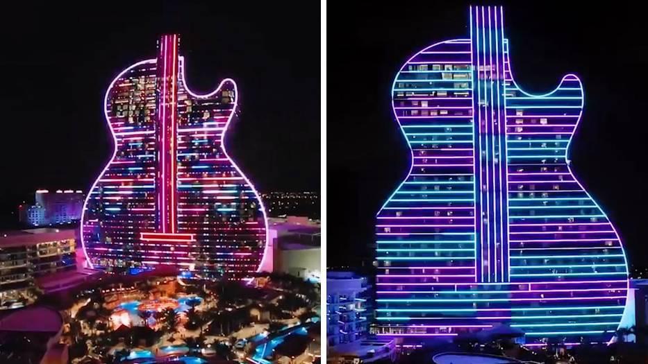 In Florida wurde das weltweit erste Hotel in Gitarrenform eröffnet