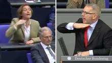 Beatrix von Storch(AfD) im Streit um die sogenannte Kopf-ab-Geste mit Johannes Kahrs (SPD)