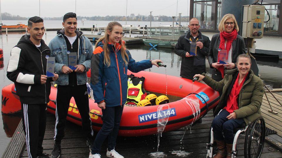 Bootstaufe mit Preisträgern und Laudatoren