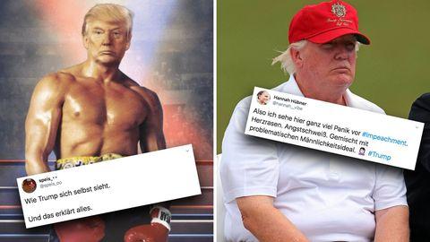 Donald Trump als Rocky: Der US-Präsident teilt diese Fotomontage kommentarlos auf Twitter.