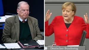 Gauland und Merkel: Sie haben unterschiedliche Auffassungen von der Meinungsfreiheit in Deutschland