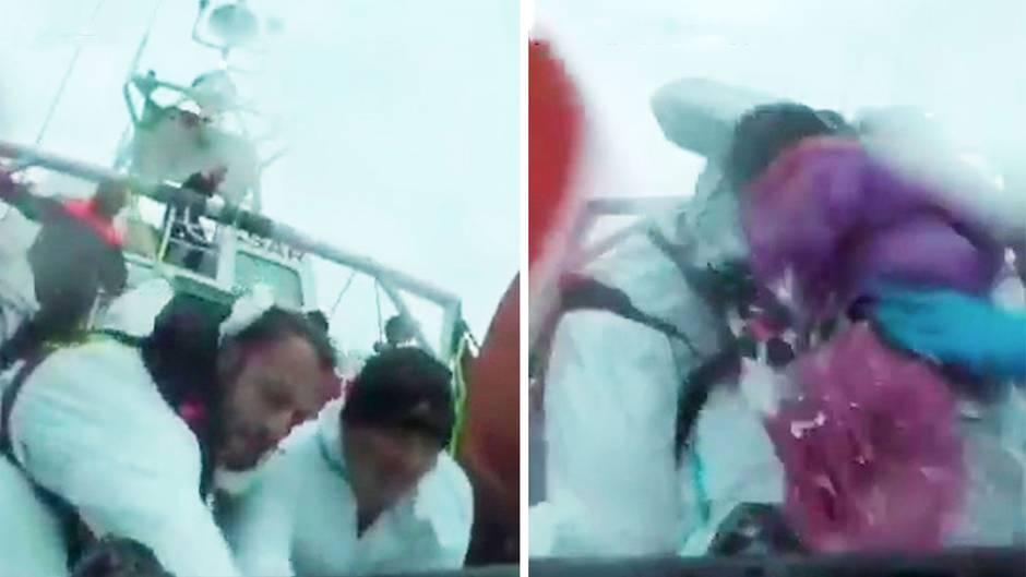 Vor Lampedusa: Italienische Küstenwache rettet 149 Menschen aus eiskaltem Wasser