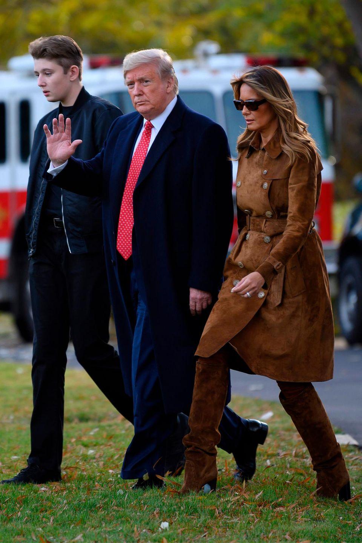 Barron Trump mit seinen Eltern