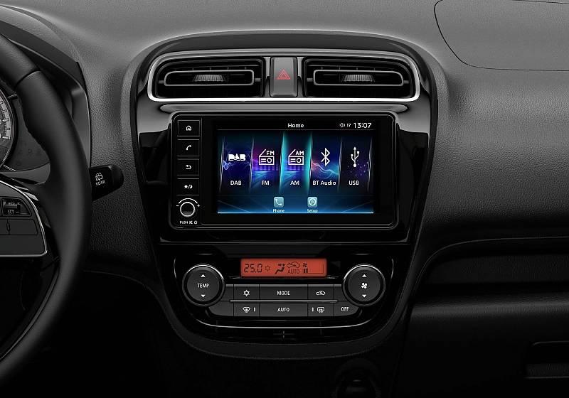 Der sieben Zoll Touchscreen ist die Kommunikationszentrale