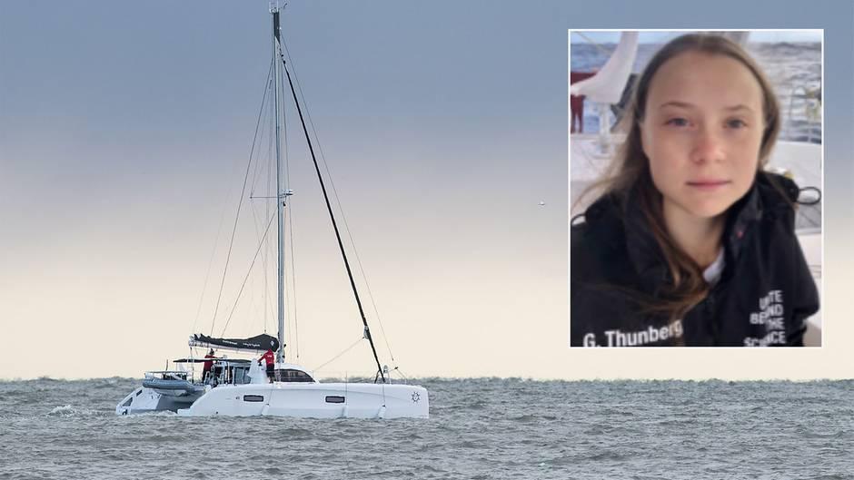 Überfahrt nach Europa: Greta Thunberg grüßt von hoher See