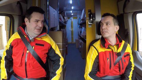 Arbeitsminister Hubertus Heil (SPD) unterwegs mit DHL