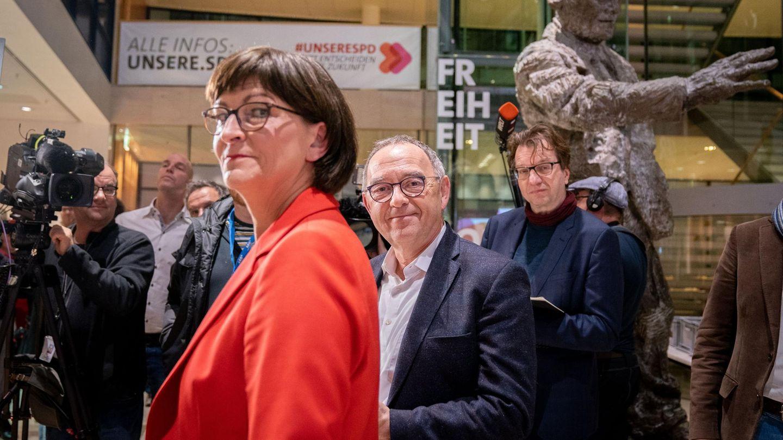 SPD Saskia Esken und Norbert Walter-Borjans