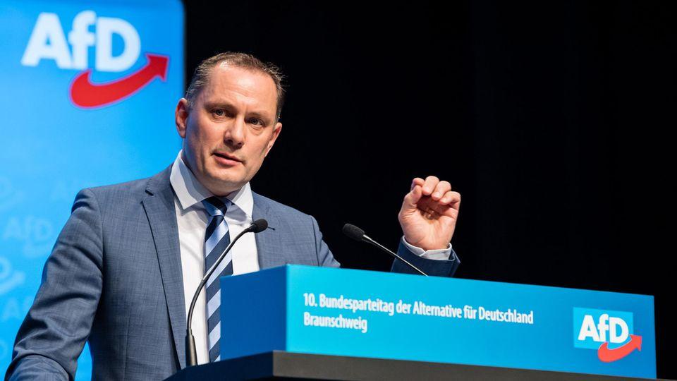 Tino Chrupalla beim AfD-Bundesparteitag in Braunschweig