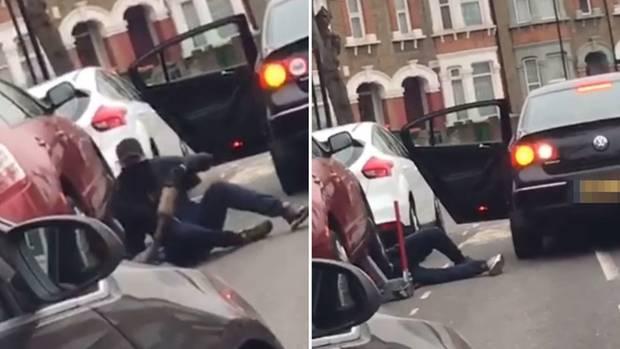 Bei diesem Diebstahl in Londonhaben die die Diebe einen Wagenheber mitgebracht.