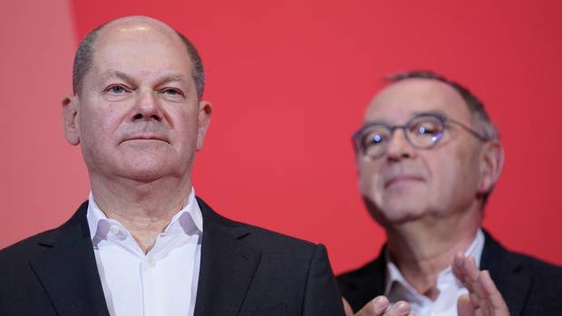 SPD-Politiker Olaf Scholz und Norbert Walter-Borjans