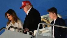 Donald Trump und Familie kommen aus dem langen Thanksgiving-Wochenende zurück