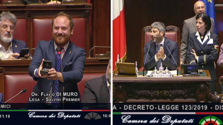 Italienischer Abgeordnete macht Heiratsantrag während Parlamentssitzung