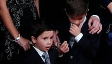 Mateo und Thiago Messi bei der Ballon d'Or Gala