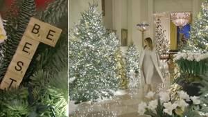 Melania Trump und Weihnachtsdeko
