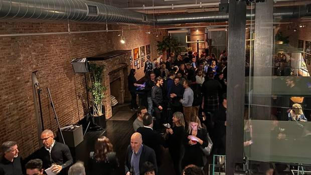 The loft in New York's Tribeca district has been the scene of an event Apple has never hosted before.
