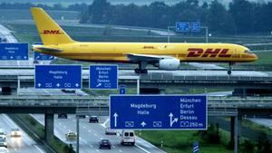 Eine Boeing 757 der Post-Express-Tochter DHL