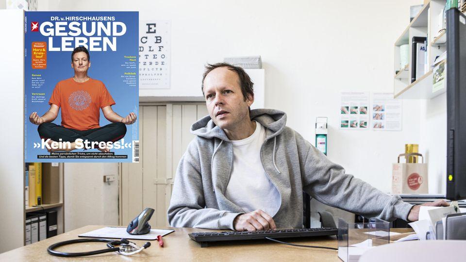 Hausarzt Ole Bonnemeier in seiner Praxis