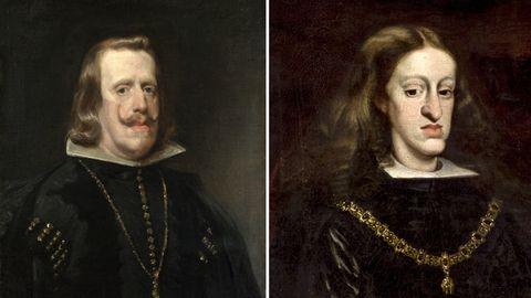 Philipp IV. und Karl II. zeigen den Habsburger Kiefer.