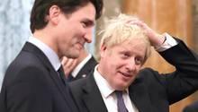 Justin Trudeau und Boris Johnson