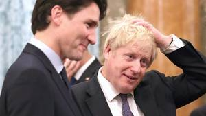 Justin Trudeau und Boris Johnson