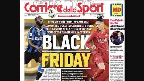 """Mit diesem Titelblatt setzte sich der """"Corrieredello Sport"""" gehörig in die Nesseln"""