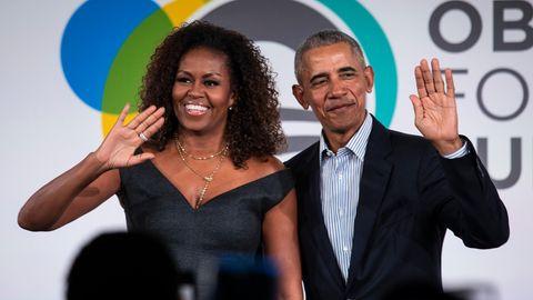 Barack Obama und seine Frau Michelle bei einem Event im Oktober