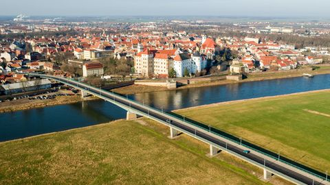 Die nordsächsische Stadt Torgau an der Elbe