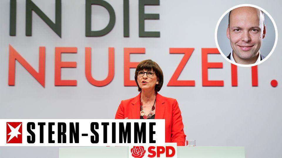 Saskia Esken auf dem SPD-Parteitag