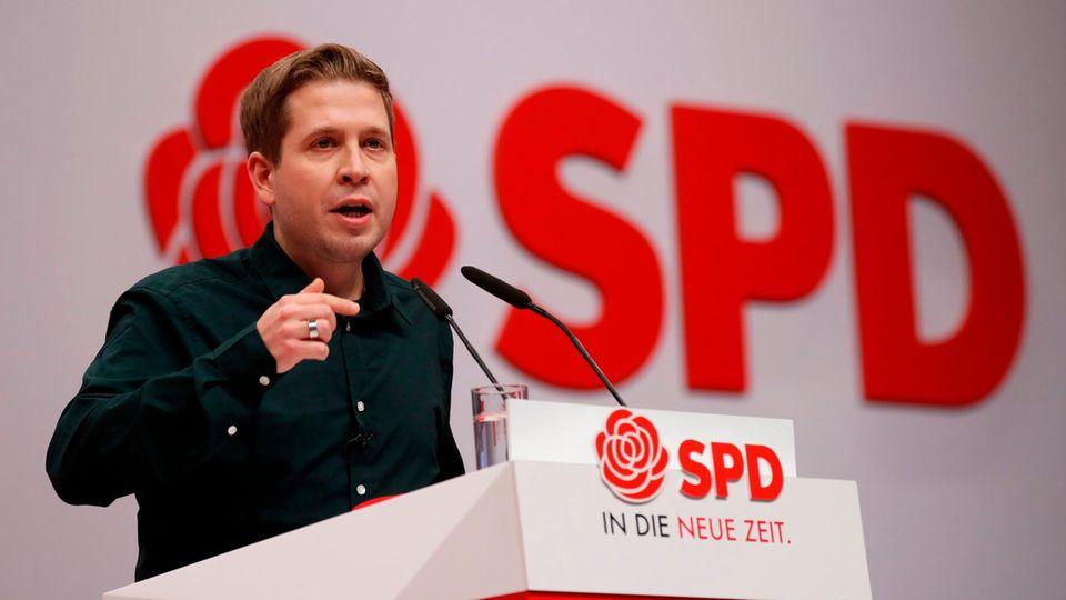 Kevin Kühnert auf dem SPD-Parteitag