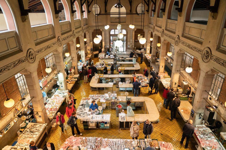 Rijeka: Blick auf den Fischmarkt der Stadt