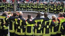 Augsburger Berufsfeuerwehr gedenkt eines getöteten Kameraden