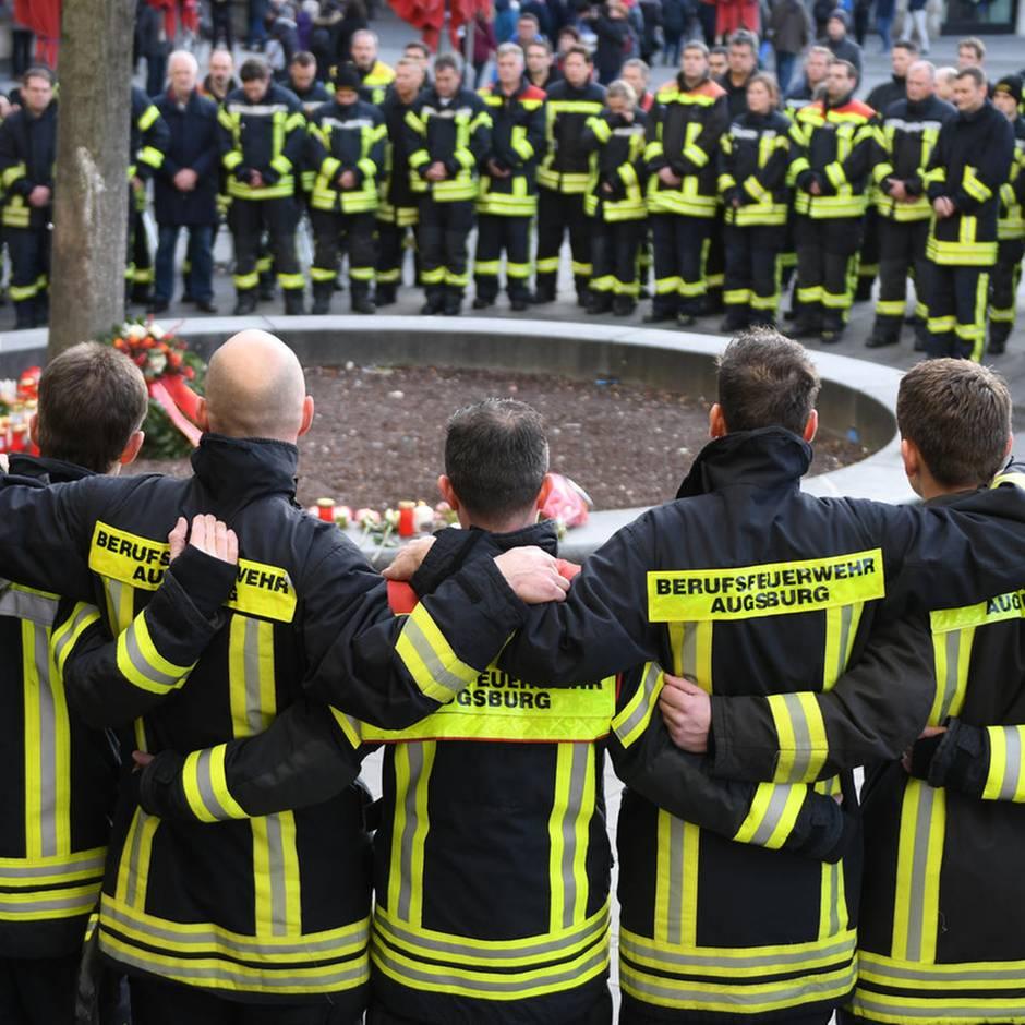 Augsburg: Tödliche Attacke auf Feuerwehrmann: Polizei meldet Festnahme