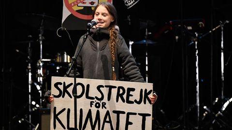 Greta Thunberg hält eine Rede auf dem Klimagipfel in Madrid