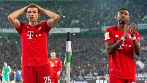 Thomas Müller und David Alaba sind nach der Niederlage gegen Borussia Mönchengladbach reichlich bedient