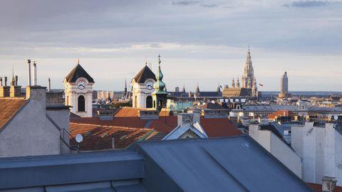 Blick von oben auf Wien