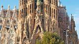 Die Türme der Kirche Sagrada Familia in Barcelona