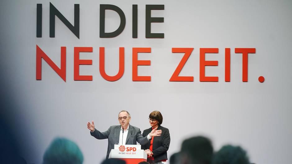 Norbert Walter-Borjans und Saskia Esken, die beiden Bundesvorsitzenden der SPD