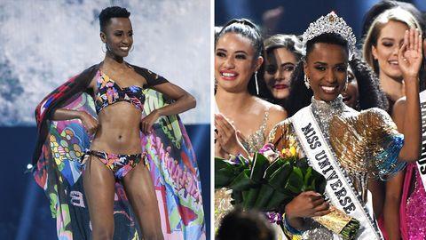 Zozibini Tunzi, Miss Südafrika 2019, steht bei der «Miss Universe»-Wahl in den Tyler Perry Studios auf der Bühne.