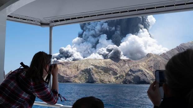 Vulkan auf der Insel White Island in Neuseeland